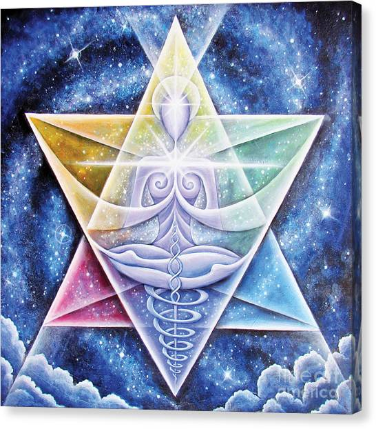 Galactic Starseed Goddess Canvas Print