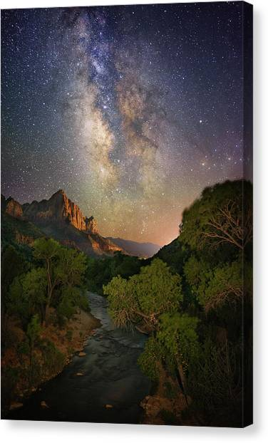 Galactic Watchman Canvas Print