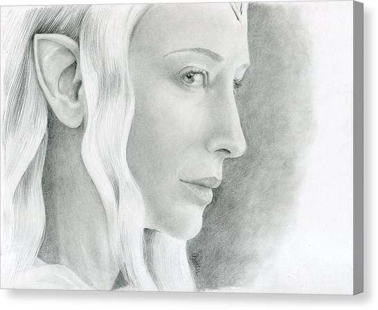 Canvas Print - Galadriel The Fair Lady Of The Forest by Bitten Kari