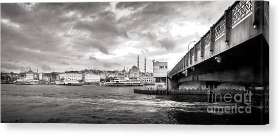Galata Bridge Canvas Print by Kadir Murat Tosun