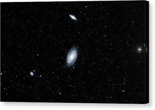 Stellar Canvas Print - Galaxies M81 And M82 by Davide De Martin