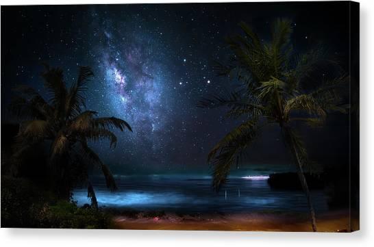 Galaxy Beach Canvas Print