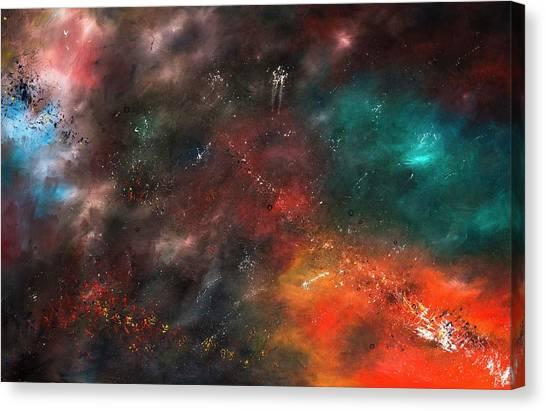 Celestial Canvas Print - Galaxy by Bess Hamiti