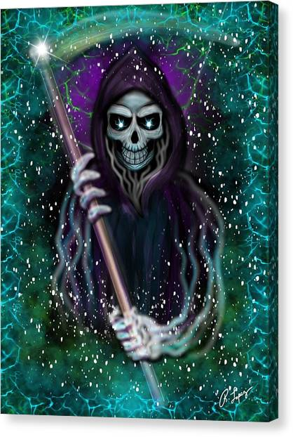 Galaxy Grim Reaper Fantasy Art Canvas Print