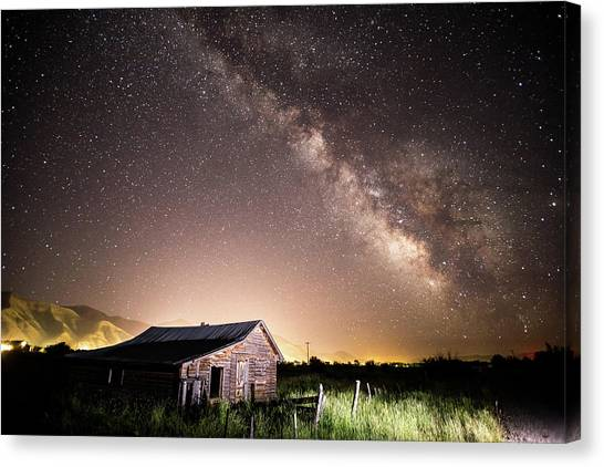 Galaxy In Star Valley Canvas Print