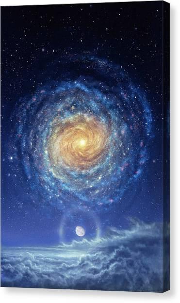 Cloudscape Canvas Print - Galaxy Rising by Don Dixon