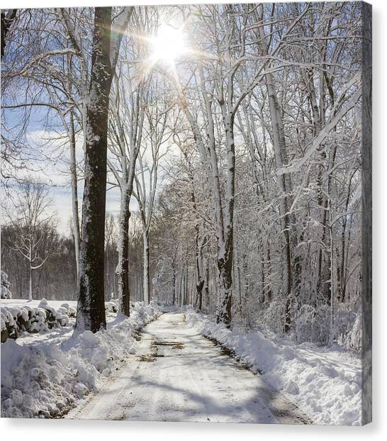 Gales Ferry Winter Wonderland Canvas Print