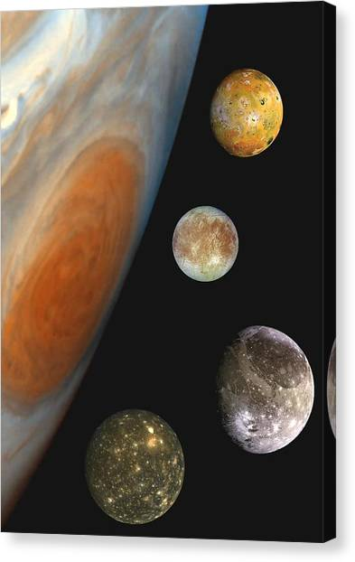 Galilean Moons Of Jupiter Canvas Print