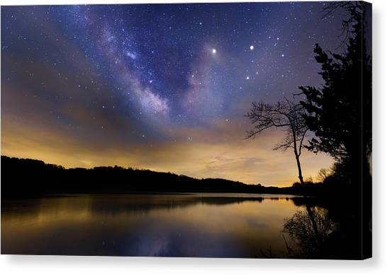 Stellar Canvas Print - Gallactic Sunrise by Bill Wakeley