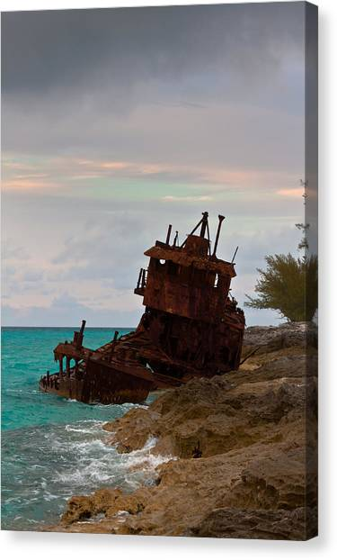 Gallant Lady Aground Canvas Print