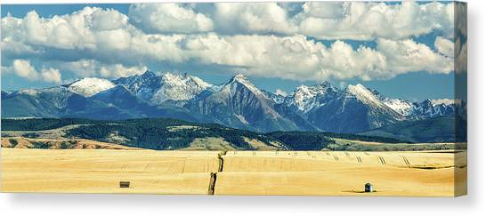 Mountain West Canvas Print - Gallatin Range by Todd Klassy