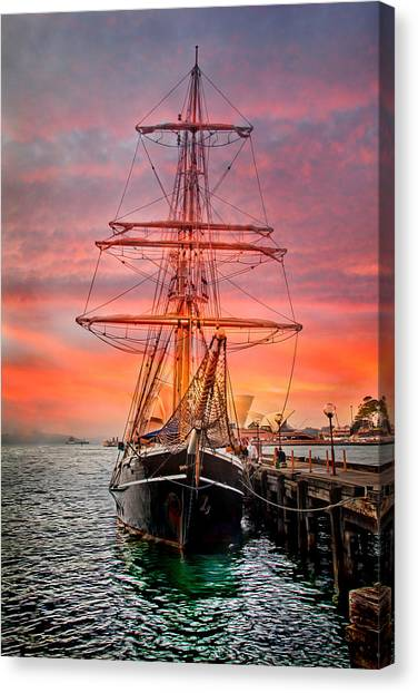 Ships Canvas Print - Galleano's Quest by Az Jackson