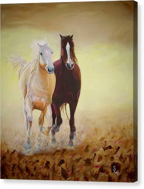 Galloping Horses Canvas Print