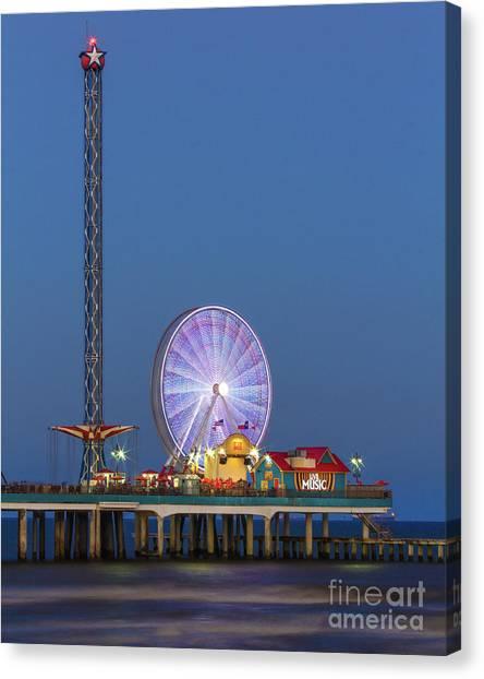 Galveston Pier  Canvas Print