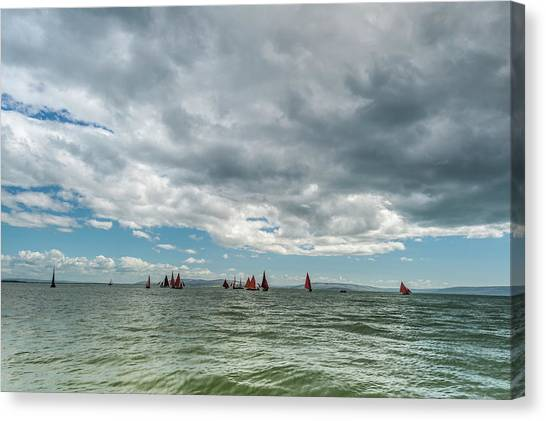 Galway Hooker Canvas Print - Galway Hooker Boats Ireland by James Cronin