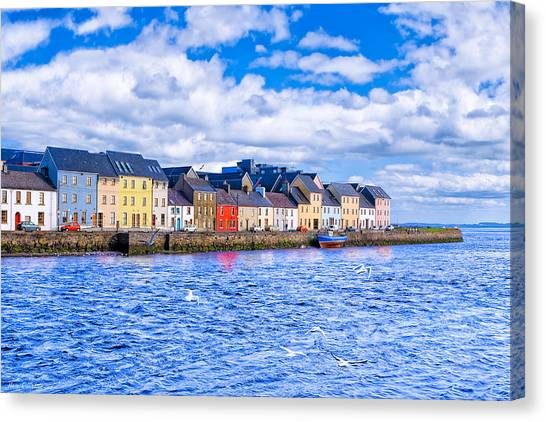 Canvas Print featuring the photograph Galway On The Water by Mark E Tisdale