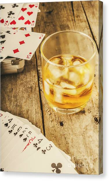 Whiskey Canvas Print - Gamblers Still Life by Jorgo Photography - Wall Art Gallery