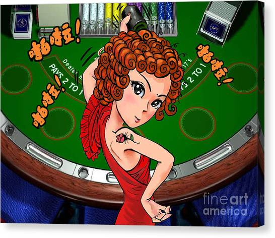 Gambling Canvas Print