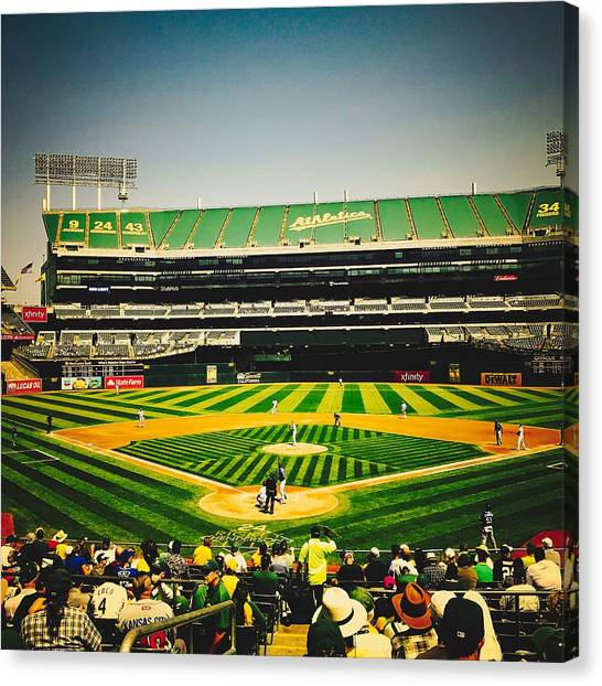 Oakland Athletics Canvas Print - Game Day In Oakland by Unsplash