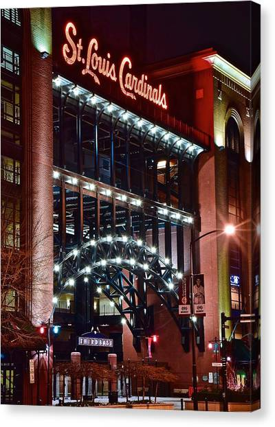 St. Louis Cardinals Canvas Print - Game Day In St Louis by Frozen in Time Fine Art Photography