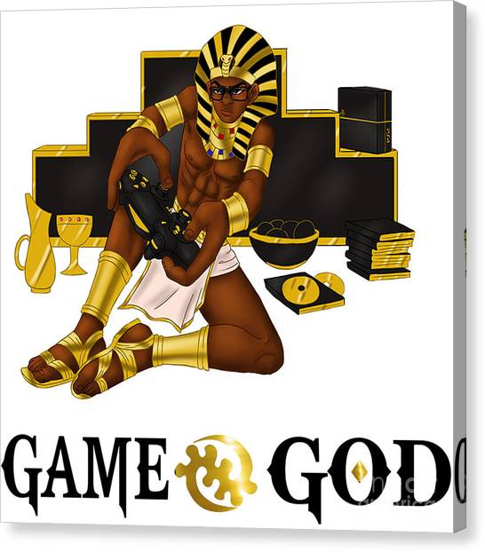 Playstation Canvas Print - Game God  by Respect the Queen