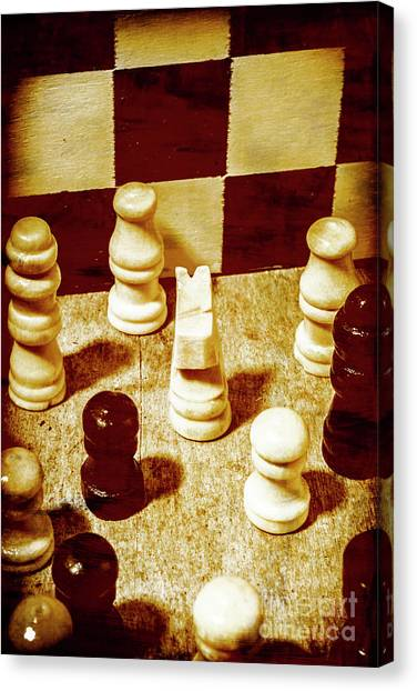 Chess King Canvas Print - Game Of Chess And Tactics by Jorgo Photography - Wall Art Gallery