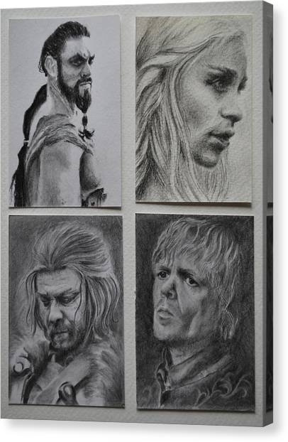 Game Of Thrones Group Canvas Print