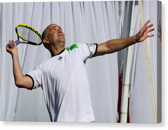 Andre Agassi Canvas Print - Game On by Annie Babineau