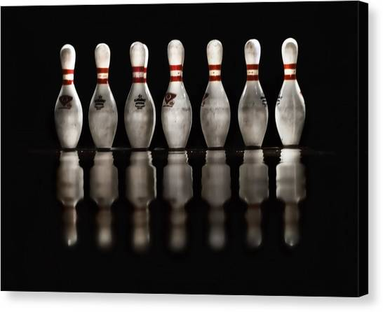 Bowling Pins Canvas Print - Game On by Evelina Kremsdorf