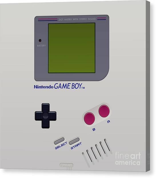 Gameboy Canvas Print - Gameboy by Janis Marika