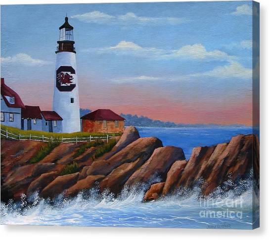Gamecock Lighthouse Canvas Print