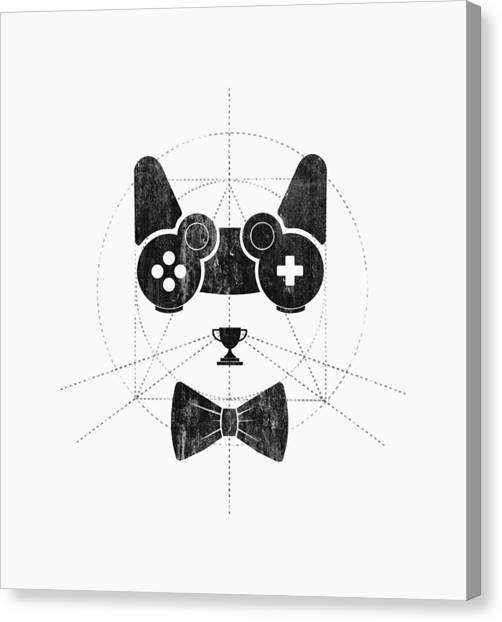 Video Games Canvas Print - Gameow by Mustafa Akgul