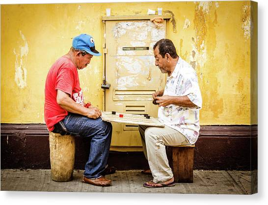 Colombian Canvas Print - Gamers by Michael Weber