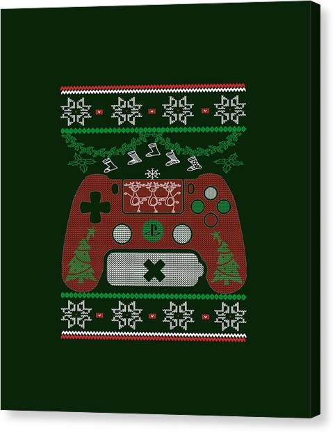 Gameboy Canvas Print - Gaming Christmas by Sophia