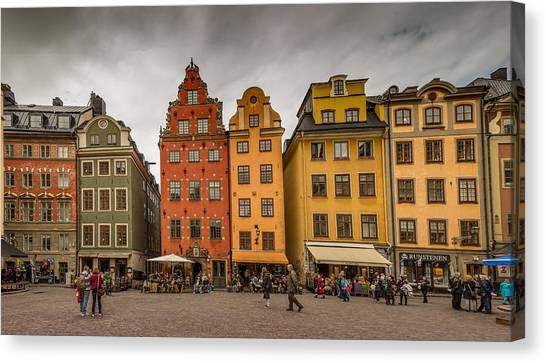 Sightseeing Canvas Print - Gamla Stan by Capt Gerry Hare
