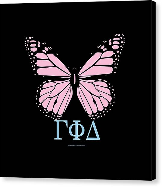 Delta Gamma Canvas Print - Gamma Phi Delta Classy Butterfly  by William Ladson