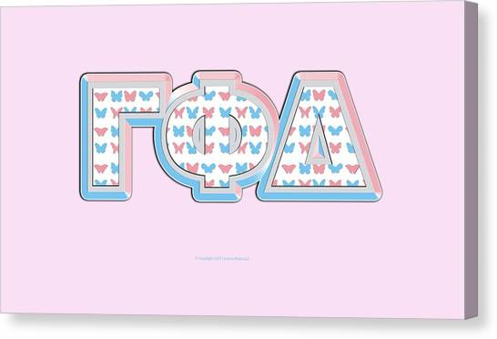 Delta Gamma Canvas Print - Gamma Phi Delta Greek by William Ladson