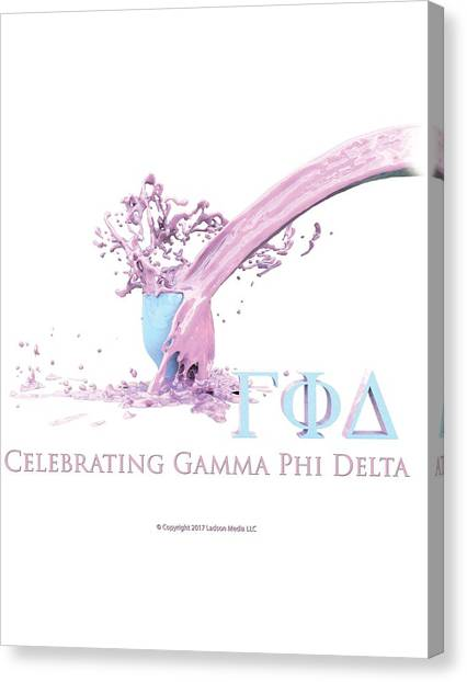 Delta Gamma Canvas Print - Gamma Phi Delta Splash by William Ladson