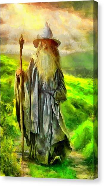 Gandalf, The  Grey Canvas Print