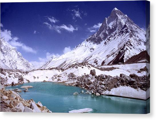 Canvas Print - Gandharva Tal And Mount Shivaling by Sam Oppenheim