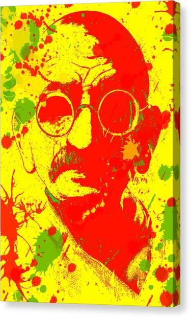 Gandhi Splatter Canvas Print