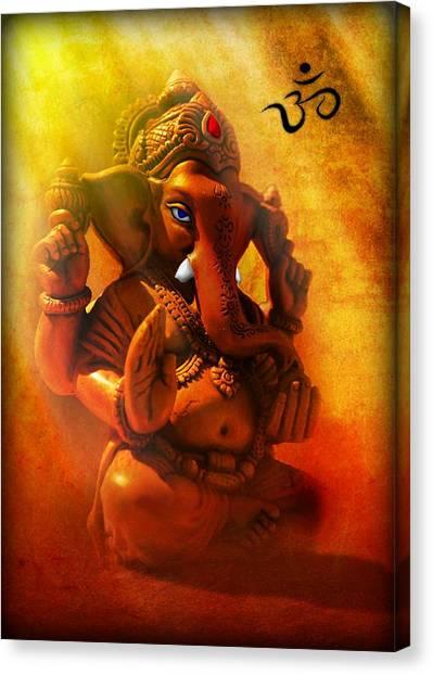 Ganesha Hindu God Asian Art Canvas Print