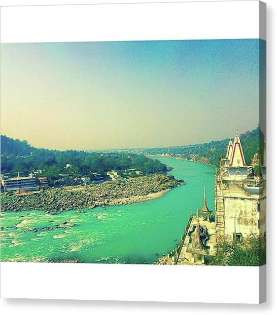Ganges Canvas Print - #ganges #ganga #rishikesh #river #india by Kentaro Sosho