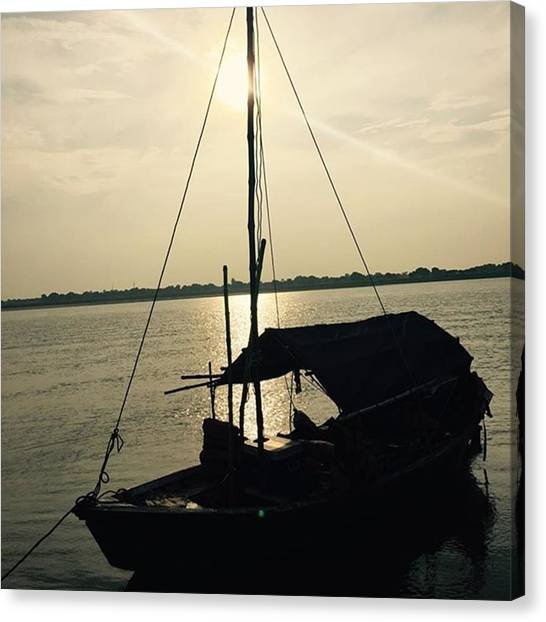 Ganges Canvas Print - #ganges #gangescruse #indiaandnepal2015 by Aldo Trapanese