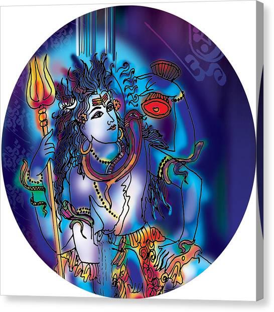 Gangeshvar Shiva Canvas Print
