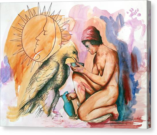 Ganymede And Zeus Canvas Print