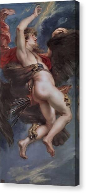 The Prado Canvas Print - Ganymede   by Peter Paul Rubens