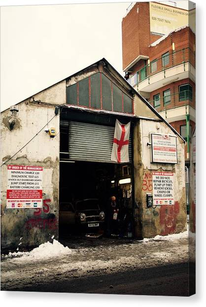 Repairs Canvas Print - Garage In London. by T Nemo