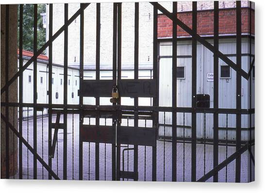Garages And Gate Canvas Print