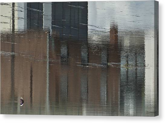 Garbage In The River Number One Canvas Print by Michael Rutland